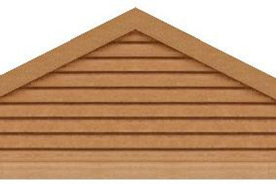 "GVP6108 - 108"" base 6/12 pitch Triangle Gable Vent"