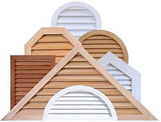 Cedar gable vents, wood gable vents, PVC gable vents, round, octagon, triangle, pitched