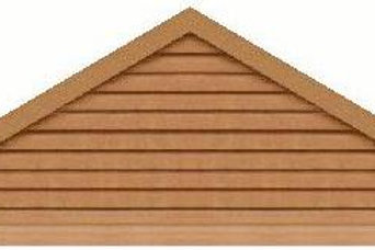 "GVP7108 - 108"" base 7/12 pitch Triangle Gable Vent"