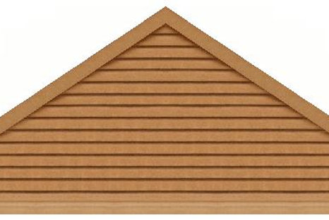 "GVP9120 - 120"" base 9/12 pitch Triangle Gable Vent"