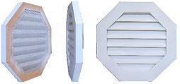 Surface mounted vents, wood gable vents, cedar louvered gable vents, PVC gable vents