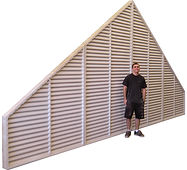 Custom Gable Vents, Custom PVC gable vents, louvered vents, Cypress, Pine, wood gable vents