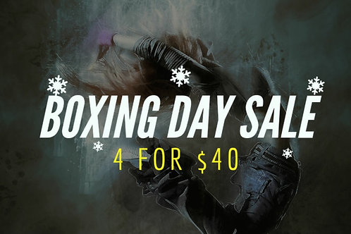 4 for $40 - Boxing day sale
