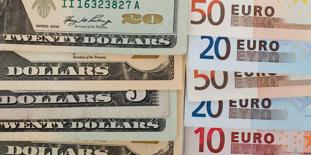 dollars and euros mid market rate