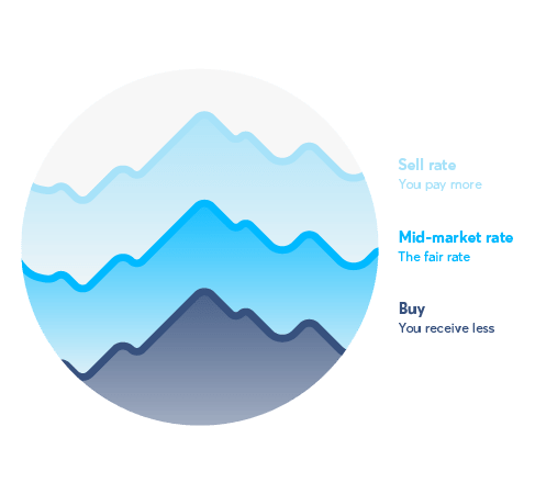 TransferWise - Mid-market rate graphic