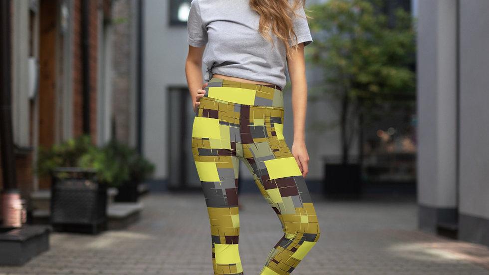 Yoga Leggings yellow block