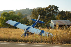 Airplane had a forced landing in a field