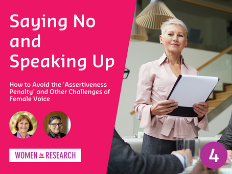 Webinar #4: Saying No and Speaking Up
