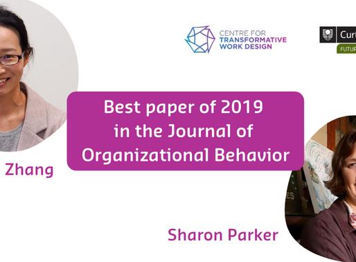 FOWI Researchers win 2019 JOB Best Paper Award