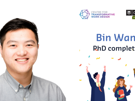 ICT-enabled Work Experiences through the Lens of Work Design - Bin Wang, PhD Completion