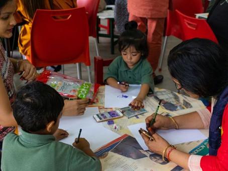 Wooing with arts in Banana Island School