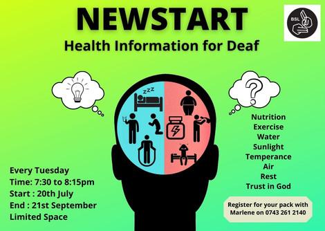NEWSTART Health Event Poster