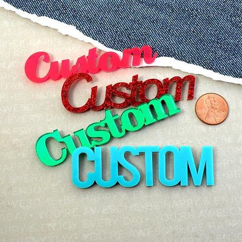 Custom Oil (List in Description)