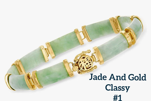 Good Jade Fortune Bracelet (18k over sterling silver)