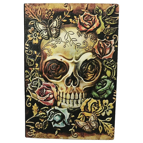 Embossed Skull Antique Diary Notebook (A5, Multicolored)