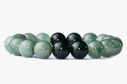 193 Natural Authentic Jade Jade Beaded Elastic Bracelet, Jade Bead Bracelet Des