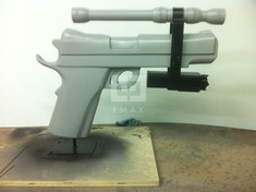 Foam Sculpted Gun Product Display