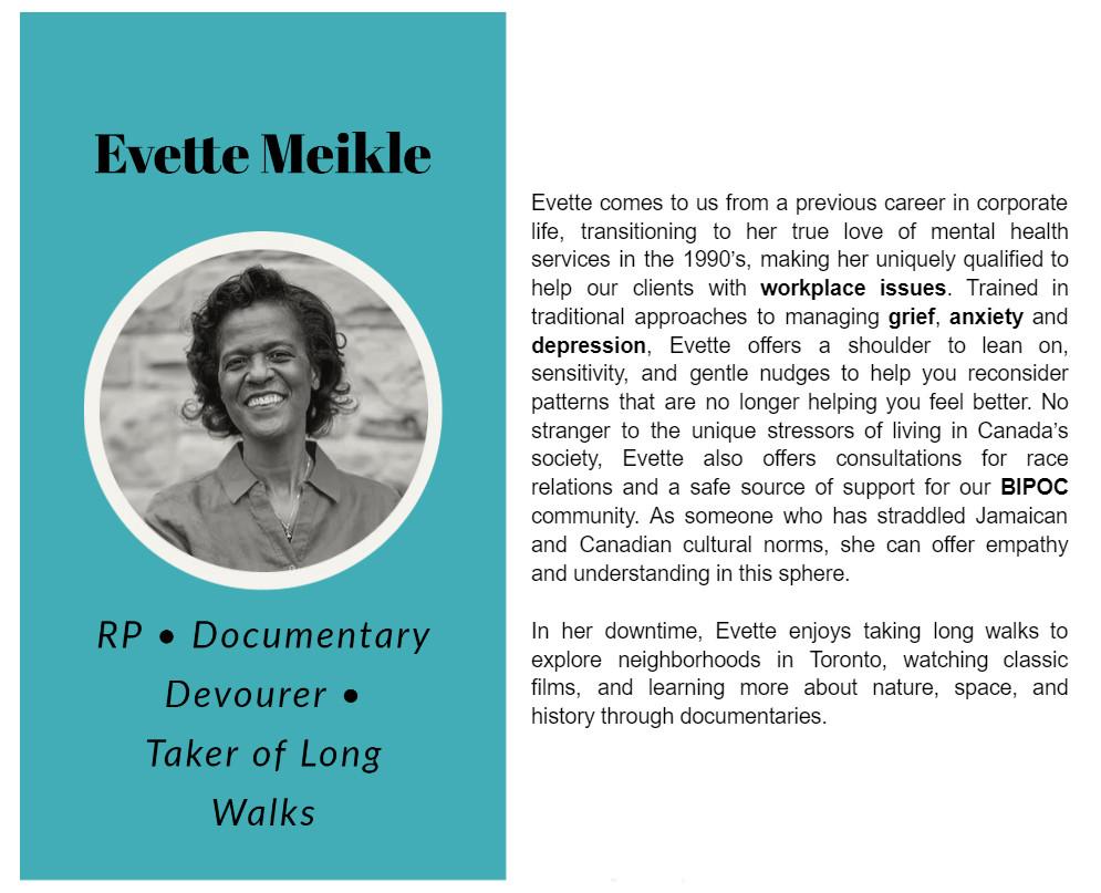 Evette Meikle bio on Limestone Clinic