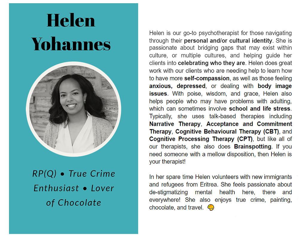 Helen Yohannes bio on Limestone Clinic