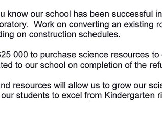 Fantastic News - Grant for Science Room
