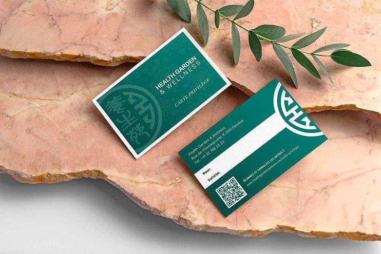 Carte membre privilège Health Garden Wellness, qui fournit des réductions sur les massages, soins esthétiques et thérapies