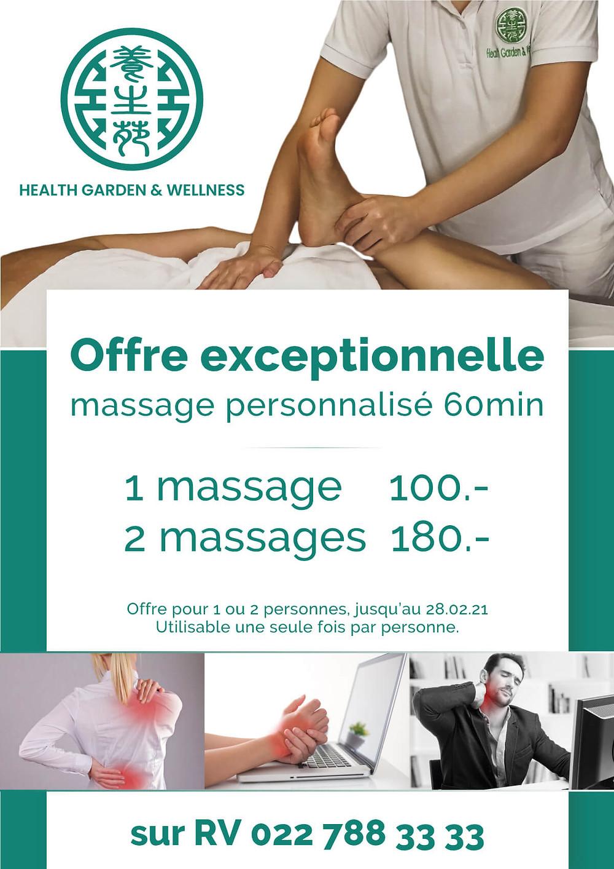 Réduction spécial COVID sur deux massages thérapeutiques à Genève