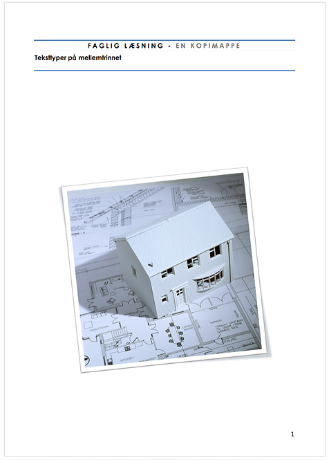Elevmateriale teksttyper