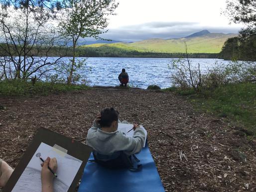"""Life at Chocorua Lake"" crankie"