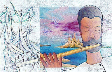 Flutist by Raynald Marcoux