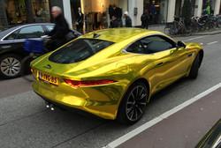 vvivid xpo gold chrome supercast jaguar F-Type wrap vinyl 18