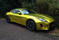 vvivid xpo gold chrome supercast jaguar F-Type wrap vinyl 13