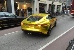 vvivid xpo gold chrome supercast jaguar F-Type wrap vinyl 15