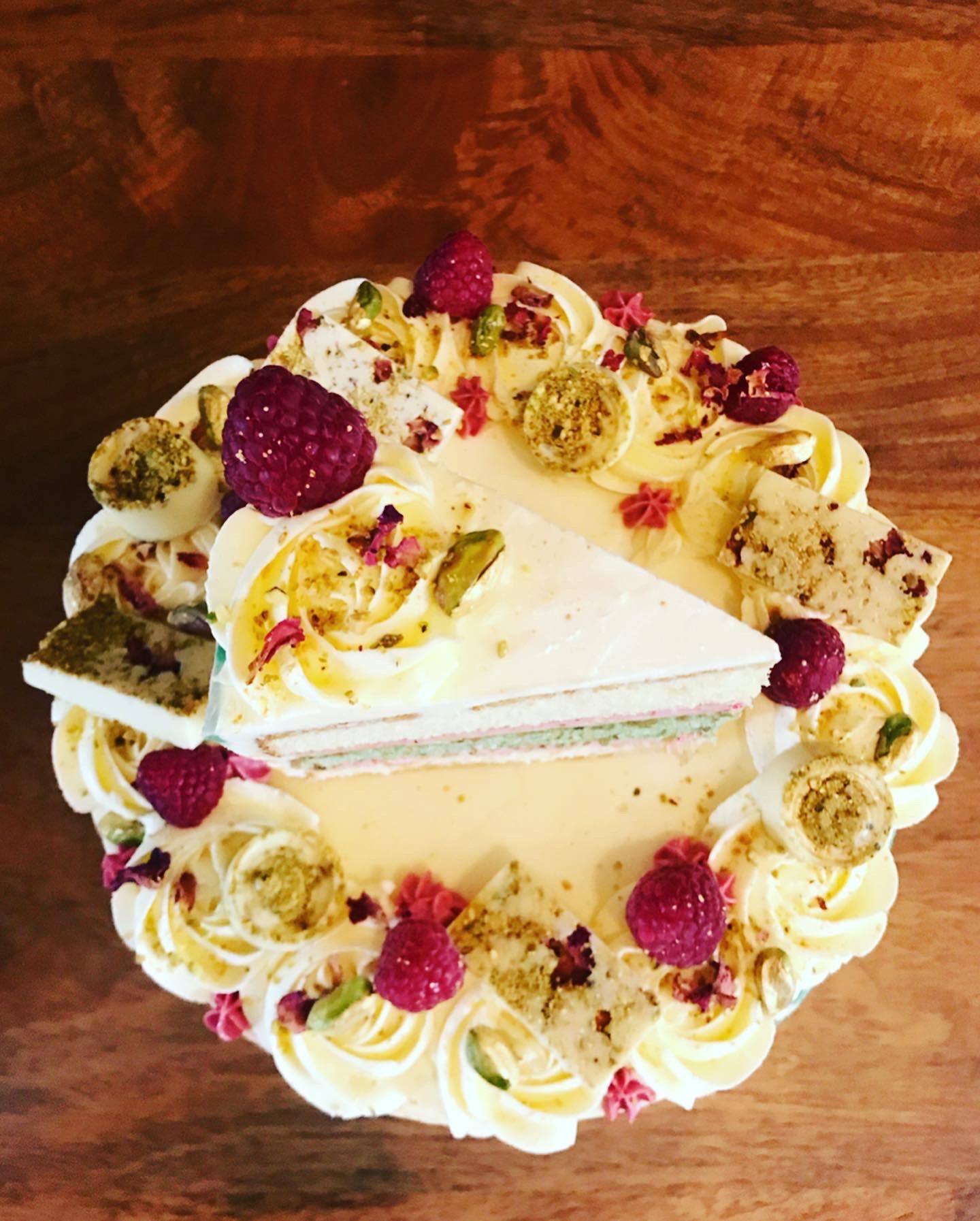 White Chocolate, Raspberry & Pistachio