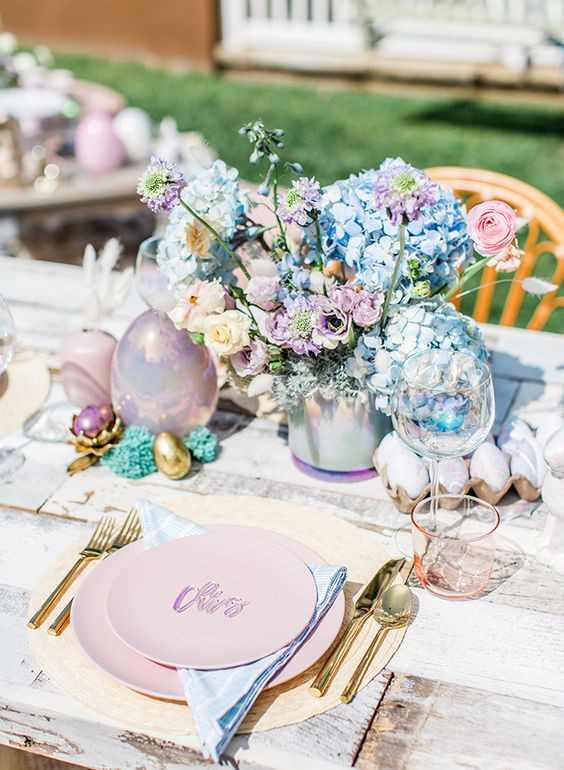 Easter Pastel Table Decor