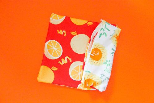 Pineapple Tarts Huat Orange Pillow Case