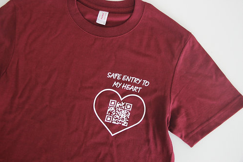 Safe Entry to My Heart T-shirt