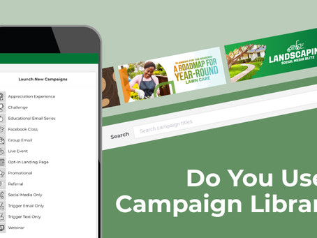 Market Your Lawn Care Business Using a Content Library