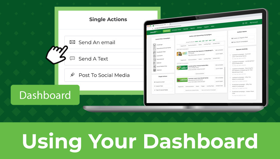 Organize your mowing company marketing materials in a automation dashboard!