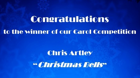 Chris Artley named winner of the Leeds Philharmonic Christmas Carol Competition!