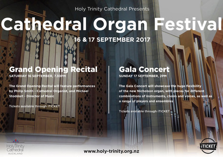 World premiere of Chris Artley's Organ Toccata is to be given by Phillip Smith, Cathedral Organi