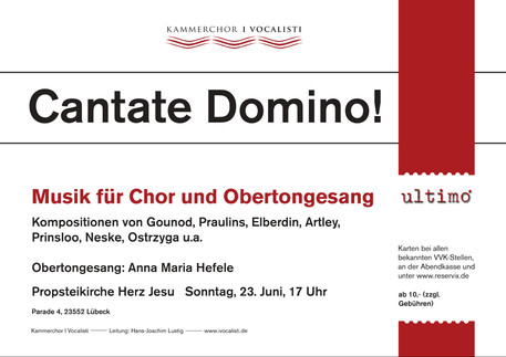 All the best to Kammerchor I Vocalisti, their director Hans-Joachim-Lustig and Anna-Maria Hefele, wh