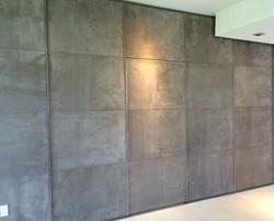 Master closet paneled wall