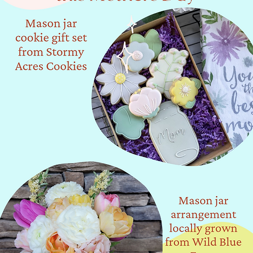 Mothers Day Floral Arrangement & Cookie Flowers