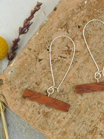 Wooden Bar Earrings