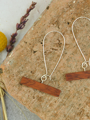 Wooden Bar Earrings