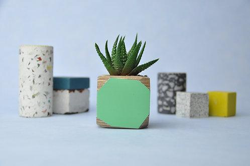 MINI GEO VESSEL - Mint green