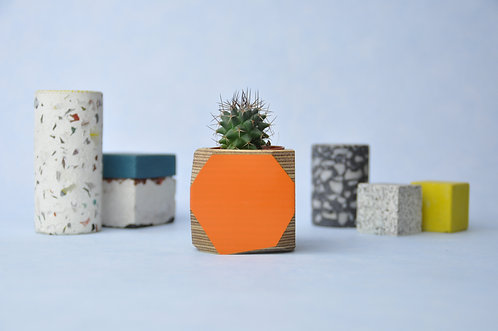 MINI GEO VESSEL - Orange