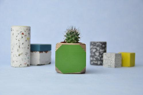 MINI GEO VESSEL - Fern green