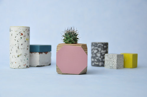 MINI GEO VESSEL - Dusty pink