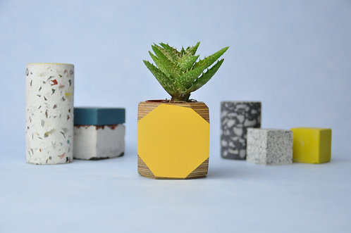 MINI GEO VESSEL - Mustard yellow